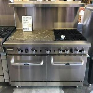 New Heavy 60 Range 36 Griddle 4 Burners 2 Full Ovens Stove Lp Prop Gas Only