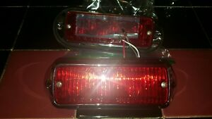 Pair Of Red Whelen 500 Series Linear Super Led Emergency First Responder Lights