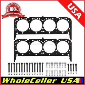 For 1955 1985 Chevy Sbc 350 Multi Layer Steel Head Gasket 12pt Stud Kit