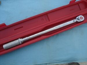 Snap On 1 2 Dr Click Type Torque Wrench qjr 3200c 30 200 Ft lb W case X lnt