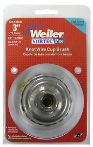 Vortec Pro Knot Wire Cup Brush 3 In Dia 5 8 11 Arbor 02 Wire Display Pack