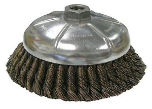 Vortec Pro Knot Wire Cup Brush 6 In Dia 5 8 11 025 In Steel Display Pack