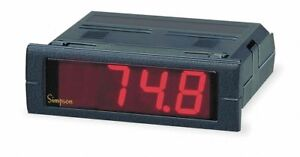Simpson Electric Digital Panel Meter Temperature Includes Instructions
