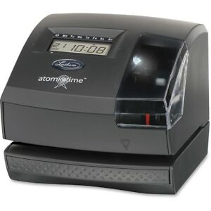 Lathem 1600e Tru align Atomic Time Clock Card Punch stamp Employees Digital