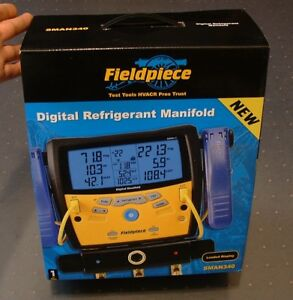 Fieldpiece Sman340 3 port Digital Manifold With Clamps And Padded Case New