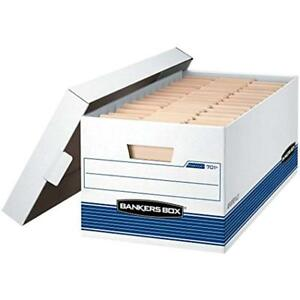 Bankers Storage File Boxes Box Stor file Medium duty With Lift off Lid Letter
