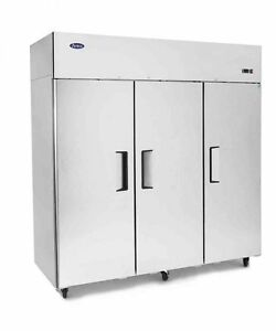 New 3 Door Commercial Reach In Freezer 2 Year Warranty Free Shipping