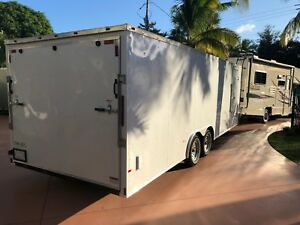New 2019 8 5x24 V nose Enclosed Cargo Trailer Car Hauler