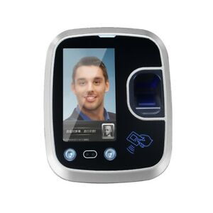 4 3 Inch Touch Screen Fingerprint Attendance System Face Recognition Camera