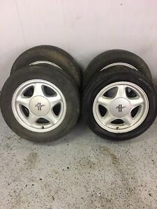 Fox Body Ford Mustang Pony Rims Wheels With Center Caps And Tires 1979 1993