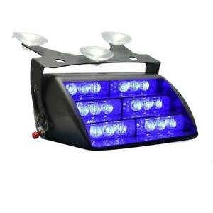 18x Led Firefighter Vehicle Emergency Dash Warning Light Strobe Flash Light Blue