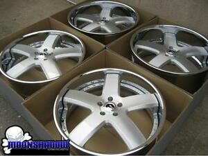 22 Forgiato Barra Brushed Silver Wheels Rims Dodge Charger 300 22x9 22x10 5