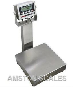100 X 0 02 Lb Digital Bench Scale 12 x14 Ntep Legal Trade Washdown Water Proof