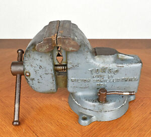 Vintage Torco By Wilton Schiller Blue Swivel Bench Vise 4 Jaws 23 Lbs St40 Mf40