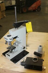 Vickers Instruments Microscope 412009 With Microplan Objectives