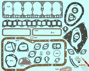 New 1951 1952 1953 1954 Hudson Hornet Big 6 308 Full Complete Engine Gasket Set