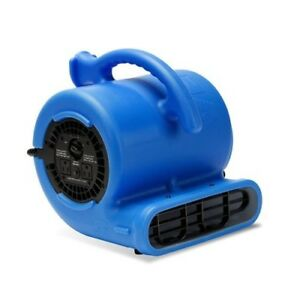 B air Blower Fan 1 4 Hp Vent Air Mover Carpet Dryer Blue Thermoplastic Vp 25