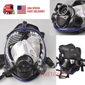 Us Large View Full Face Gas Mask Painting Spraying Anti dust Respirator Update 2