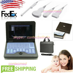 Cms600p2 Lcd Portable Laptop Ultrasound Scanner Diagnostic Machine 3 Probes Usa