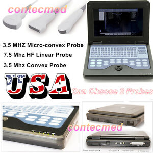 Full Digital Notebook B ultrasound Scanner Diagnostic Contec Two Probe Usa Fedex