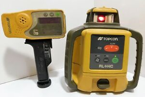 Topcon Rl h4c Self leveling Slope Rotary Laser Level W Receiver Ls 80l