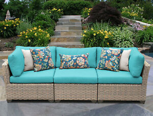 Tk Classics Monterey Patio Sofa With Cushions Aruba