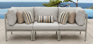 Tk Classics Carlisle Patio Sofa With Cushions Beige