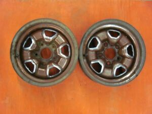 Original 1973 73 Oldsmobile Cutlass 14x7 Rally Wheels Dated Pair Ol