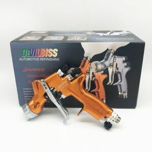 Devilbiss Hd 2 Spray Gun Hvlp Gravity Feed Touch up For All Auto Paint Topcoat