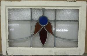 Mid Sized Old English Leaded Stained Glass Window Abstract Sweep 23 75 X 15 5
