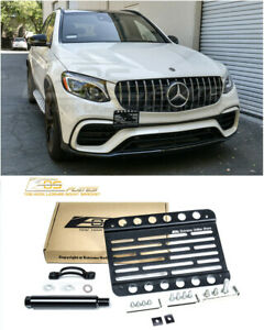 For 18 up Mercedes benz Glc 63 Amg Front Bumper Tow Hook License Plate