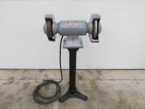 10 Dayton 3z144 Electric Pedastal Bench Grinder Buffer Wire Brush 1 Hp 3 Ph