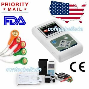 New 3channel 24h Ecg ekg Holter System Analyzer Recorder Monitor pc Software Us