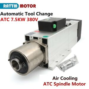7 5kw Iso30 Atc Automatic Tool Change Air Cooling Spindle Motor 800hz 380v 4pole