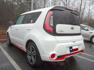 Dar Fg 562 For Kia Soul Roof Mount Rear Spoiler Unpainted
