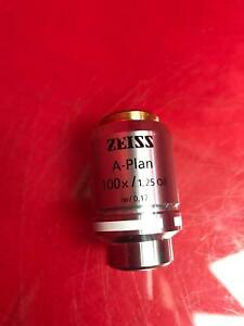 Zeiss A plan 100x 1 25 Oil 0 17 44 10 80 Microscope Objective