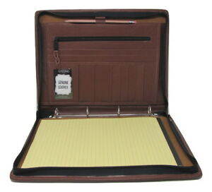 Brown Leather A4 Folder Portfolio With Option To Personalise Pa104 4 Ring