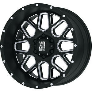 20x10 Black Milled Xd Xd820 8x170 24 Rims Open Country Rt Lt285 60r20 Tires