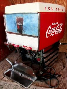 Coca Cola Soda Fountain Dispenser Dole Pacer P 3713 Outboard Ice Cold Vtg 60 s
