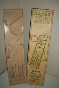 Vintage Nadex Industries Coin Sorter Counter W Original Box Instructions