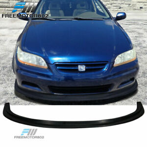 Fits 01 02 Honda Accord 2 Door Mda Style Front Bumper Lip Black Pu