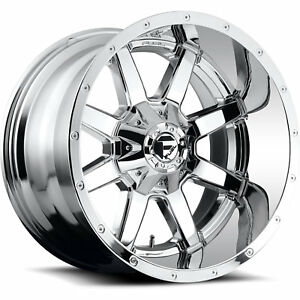 20x12 Chrome Fuel Maverick 6x135 6x5 5 44 Rims Open Country Mt 35 Tires
