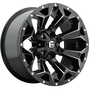 20x9 Gloss Black Fuel Assault 6x135 6x5 5 1 Wheels Open Country Mt 35 Tires
