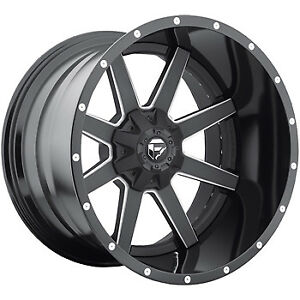 20x10 Black Fuel Maverick 6x135 6x5 5 18 Wheels Open Country Mt 35 Tires
