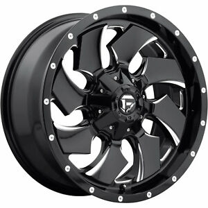 20x10 Black Milled Fuel Cleaver 6x135 6x5 5 18 Rims Open Country Mt 35 Tires