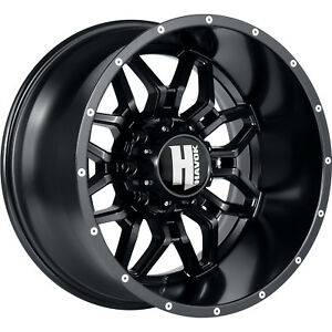 20x9 Black Havok H109 5x5 5 12 Wheels Toyo Open Country Mt 35x12 50r20 Tires