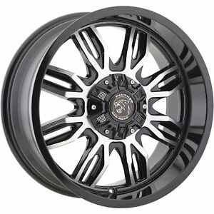20x9 Black Machined 580 6x135 6x5 5 12 Rims Open Country Mt 35 Tires