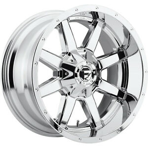 20x10 Chrome Fuel Maverick 6x135 6x5 5 18 Rims Open Country Mt 35 Tires