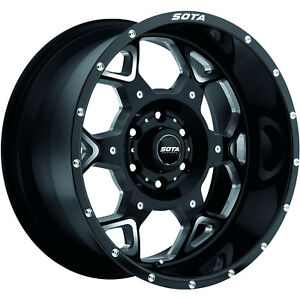 20x9 Black Sota Skul 6x135 0 Rims Toyo Open Country Mt 35x12 5x20 Tires