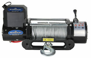 Viper Winch 8500lb Steel Cable And Hawse Handheld And Wireless Remote